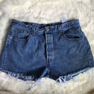 Levi's 501 Button Up Cutoff Jean Shorts Size 36